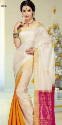 Picture of Ivory Women'S Clothings Soft Silk Sarees full Jari Grand P
