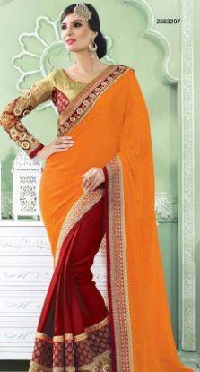 Picture of Ivory Women'S Silk Cotton Saree Grand Pallu Full Jari Work