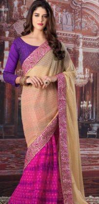 Picture of New ListingSanskriti Indian Vintage Printed Saree Art Silk