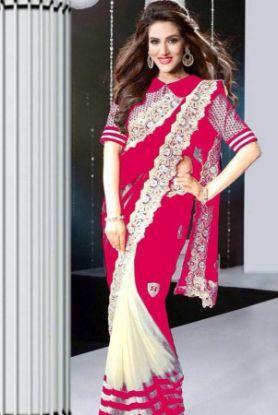 Picture of New ListingSanskriti Vintage Cream Saree Pure Cotton