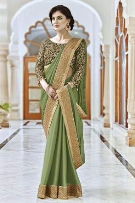 Picture of Bandhani Style Sari Indian Ethnic Silk Blend Dress Pink Use