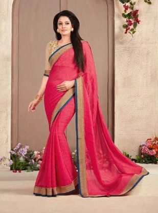 Picture of A Semi Tassar Silk Sari With Golden Zari Paisleys Bord,E7048