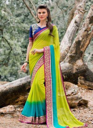 Picture of Assorted Fabric Sari Lot Of Multicolor Dress Fabric Vi,E7053