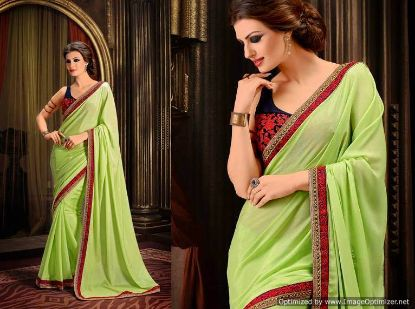 Picture of Dark Greenfancy Silk Saree Heavy Silk Saree Diwali Fes,E7267