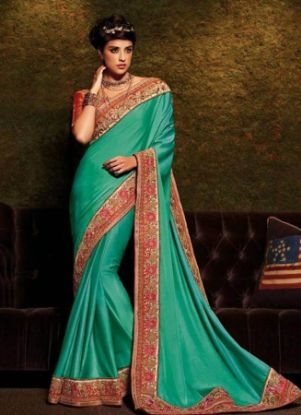 Picture of Amazing Look Saree Pakistani Indian Designer Ethnic Pa,E8231