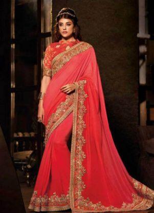 Picture of Amazing Saree Beautiful Indian Thread Work Women Styli,E8232