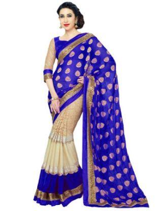 Picture of Pakistani Multicolor Sari Blouse Party Wear Georgette ,E8353