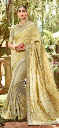 Picture of Vintage Blue Saree Indian Silk Blend Decor Fabric Flor,E9791