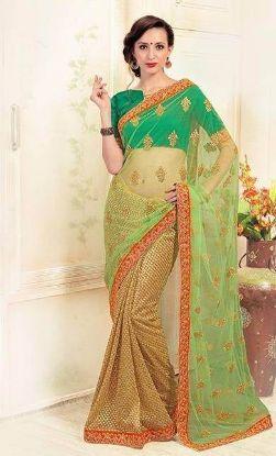 Picture of Bandhani Style Sari Indian Ethnic Silk Blend Dress Pin,E10094