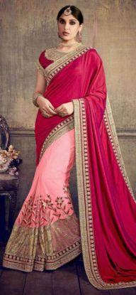Picture of Indian Ethnic Vintage Saree Pure Silk Brown Floral Pri,E10228