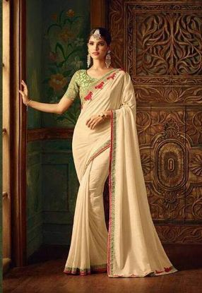 Picture of 100% Silk Vintage Magenta Craft Fabric Deco Saree Flor,E10675