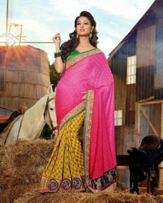 Picture of Black Traditional Art Silk Saree Pakistani Self Woven ,E2811