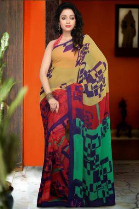 Picture of Bollywood Sari Designer Indian Partywear Saree Traditi,E2907