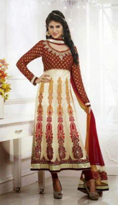Picture of Luxury Rhinestone Beads Wedding Dress Lace Up Bridal Custom