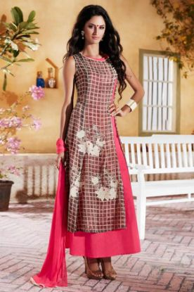 Picture of Boho Lace Chiffon Garden Wedding Dress Custom Made White Iv